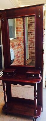 Hall Stand Timber Retro Antique Look Pickup Sydney With Mirror