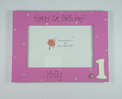 Personalised First 1st Birthday Girl Daughter Granddaughter 4x6 Photo Frame Gift