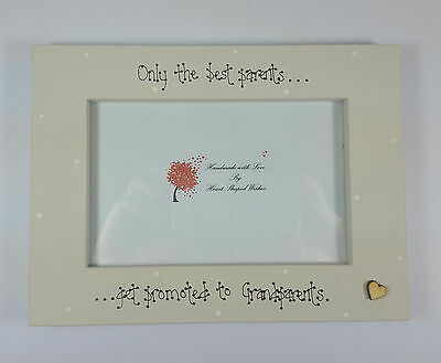 """Grandparent Parent New Baby """"Only The Best Get Promoted"""" 4x6 Photo Frame Gift"""