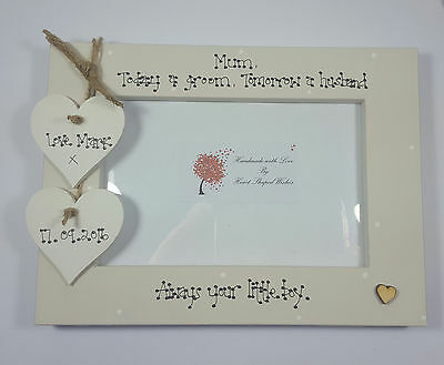 """Personalised Wedding Mother of the Groom Mum """"Always your Boy"""" 4x6 Photo Frame"""