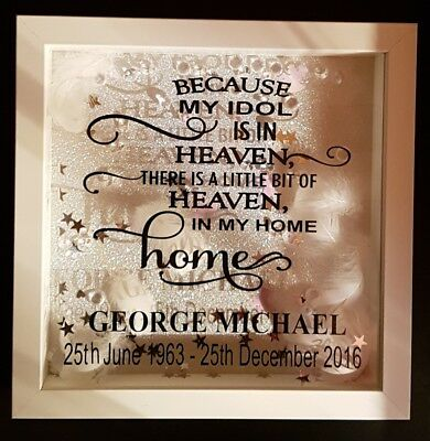 George Michael  Personalised Keepsake memory frame Gift 23 x 23 inches