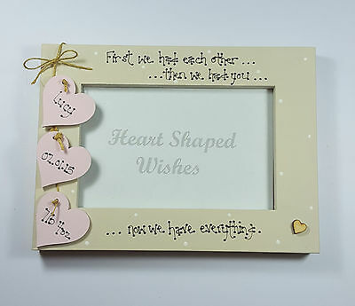 """Personalised New Baby Girl Daughter Birth Family """"We Have You"""" 4x6 Photo Frame"""