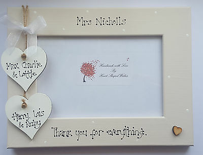 Personalised Teacher Teaching Nursery Assistant Thank You Gift 4x6 Photo Frame