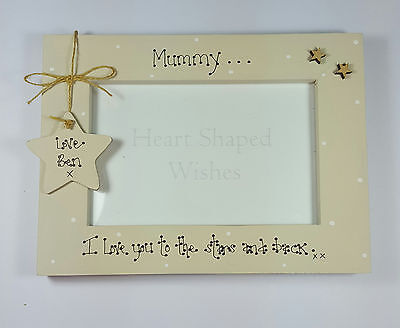 """Personalised Mum Mummy Mother's Day Birthday """"Love You"""" 4x6 Photo Frame Gift"""