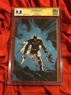Cgc Ss 9.8~Dark Nights Metal #1Blue Virgin Show Variant~Signed Capullo+Snyder~X