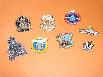 Canada  Police RCMP GRC lot of 8 different lapel pins