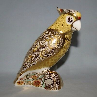 Royal Crown Derby paperweight Citron Cockatoo GOLD STOPPER
