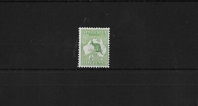 Australia Sg1, ½D Green Mounted Mint