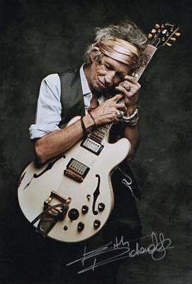 Keith Richards Genuine Autographed 12x8inch photograph