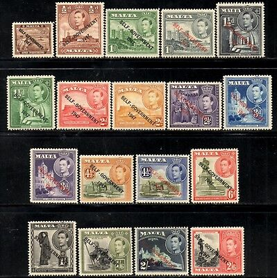 Malta 1948 George VI New Constitution Values to 2/6d SG.234/246 (Exc SG.239a)