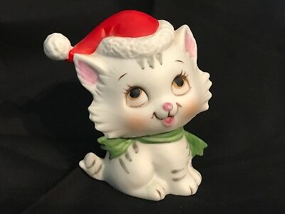 Vintage Ceramic Christmas Cat