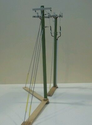 HO SCALE MODEL: 10.4KV Deadend Corner/Angle & Deadend Riser Power Poles (2)