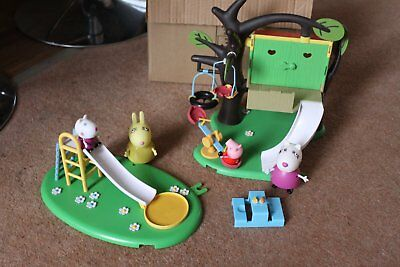 Peppa Pig Tree House Playset And Slide With Characters