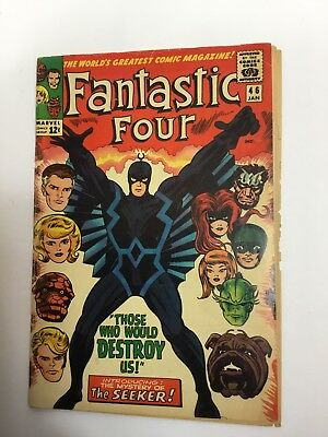 Fantastic Four #46 1st Appearance Of Black Bolt Of The Inhumans.  Key issue