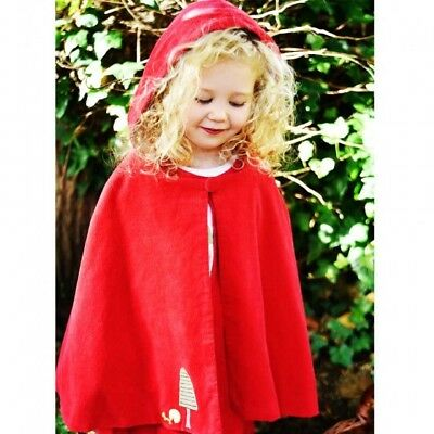 Girls Little Red Riding Hood Cape/Cloak - Present/Gift- Fancy Dress Book Day