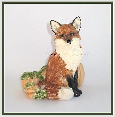 "SUSAN KIMMEL ORIGINAL SCULPTURES ~ FOX & Mouse ""Do you come here often?"" *OOAK*"
