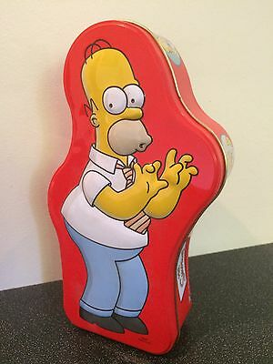 The Simpsons Homer Simpson 2005 Collectable Biscuit Tin - Empty - 12 Inch Tall