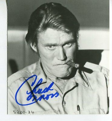 CHUCK CONNORS  autograph HAND SIGNED 6006