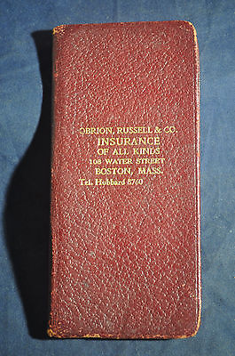 1935 Obrion, Russell & Co., Insurance of all Kinds Boston Mass Daily Diary Book