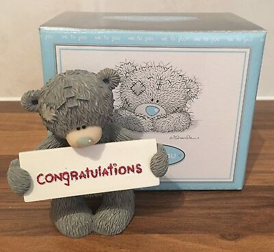 Me To You Figurines. Tatty Teddy Collectable. Many Congratulations