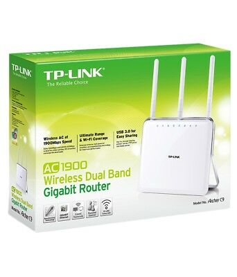 TP-LINK Archer C9 AC1900 Wireless Dual Band Gigabit Cable Router 1900Mbps UK NEW