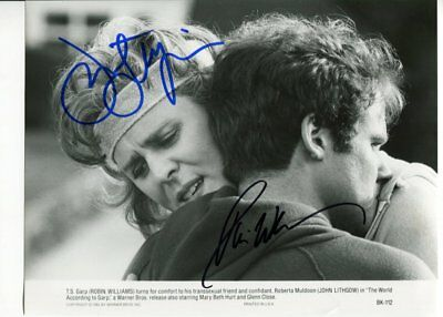 JOHN LITHGOW & ROBIN WILLIAMS autograph HAND SIGNED 6025