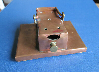 OLD COPPER INCENSE BURNER - Home Made with Pull Drawer