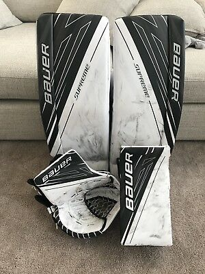 Bauer S190 Goalie Pads Glove & Blocker Senior Small (33+1)