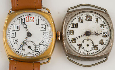 Vintage Swiss Trench Type Watch For Repair + Other Partial!