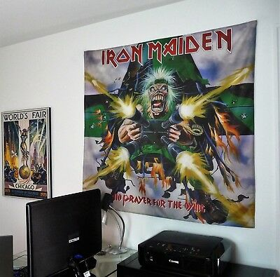 IRON MAIDEN No Prayer for the Dying HUGE 4X4 BANNER poster tapestry cd album