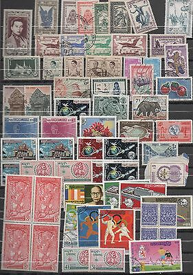 CAMBODGE CAMBODIA lot 165 TIMBRES/STAMPS NEUFS/OBLIT MINIT/USED 1950 2005