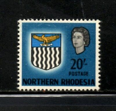 Northern Rhodesia 1963 Arms 20/- Blue SG.88  Mint MNH