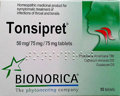 Bionorica Tonsipret ® Inflammation of the Throat and Tonsils 50 tabs