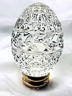 Cut Crystal  Egg from FRANKLIN MINT Collector's Treasury of EGGS with Stand