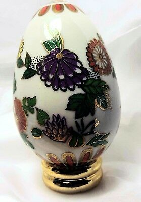 Satsuma Egg from FRANKLIN MINT Collector's Treasury of EGGS with Stand