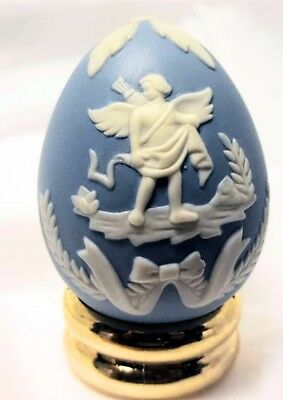 Jasperware Egg from FRANKLIN MINT Collector's Treasury of EGGS with Stand