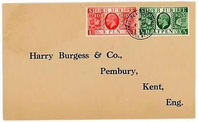 GB 1935 Silver Jubilee 1/2d & 1d (6th May) RARE pre FDC Cancelled a Day Early