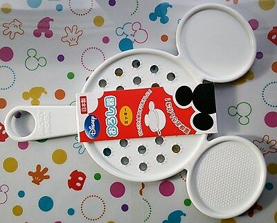 New Disney Mickey Mouse Fruit Vegetable Cheese Grater Plastic Made In Japan