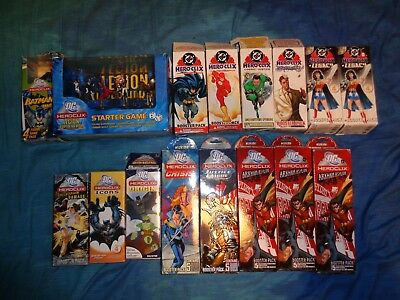 DC Heroclix Starter Game And Booster Packs