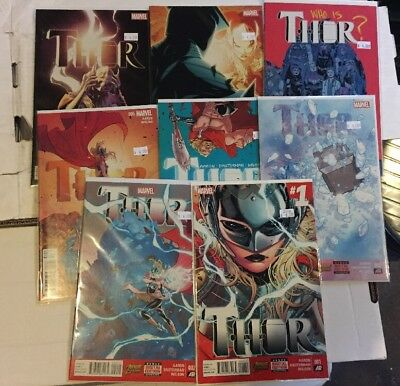 Thor #1-8 Complete Run Lady Thor Jane Foster Jason Aaron Marvel 2014 Mighty Thor