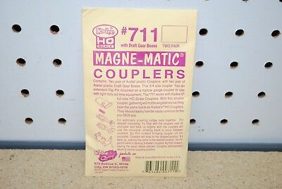 Kadee #711 Magne-Matic Couplers 2 Pair *HO-Scale* NEW