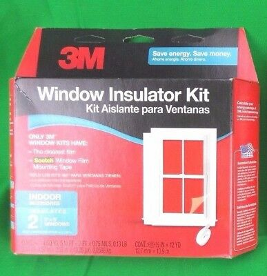 3M Indoor Insulator Kit, 2 Window *New/Sealed*