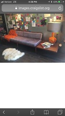 Danish Mid Century Modern  Sofa Couch Daybed Teak Wood 1960s