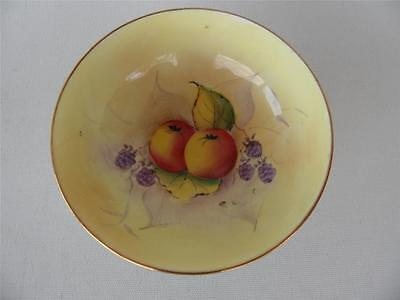 Vintage Hand Painted Paragon Fruit Pattern Sugar Bowl Duck Egg Blue & Gold