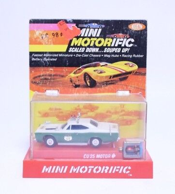 Nice Vintage Ideal Mini Motorific Plymouth Gtx Police Car W/ Motor In Box