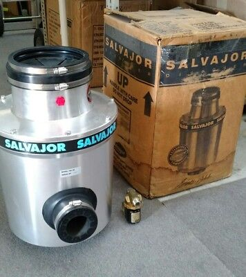 NEW OLD STOCK Salvajor 100 Commercial Garbage Disposer w/ start-stop Control Box