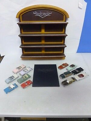The Franklin Mint The Classic Cars of the Fifties Hanging Display Shelf w/12 Car