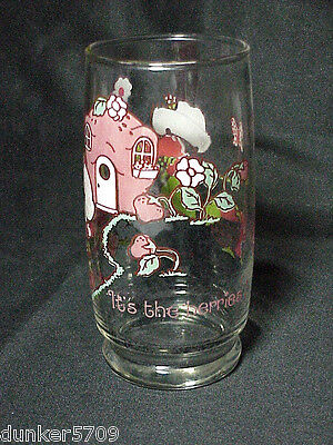 "Strawberry Shortcake 1980 Drinking Glass American Greetings ""it's The Berries!"""