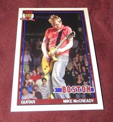 PEARL JAM Fenway Baseball Card - Mike McCready 3 red - Boston pack red sox
