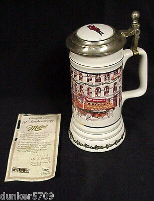 Miller West Water Street Lidded Stein #347 6Th In Series Holiday Collection